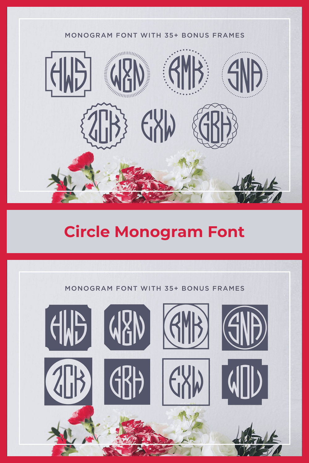 Make gorgeous three letter circle monograms quickly and easily in any program, even Word or Pages.