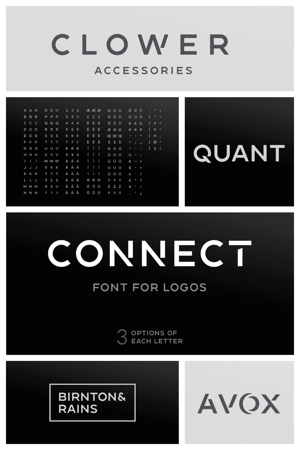 This is a new font for design of minimalistic logos.