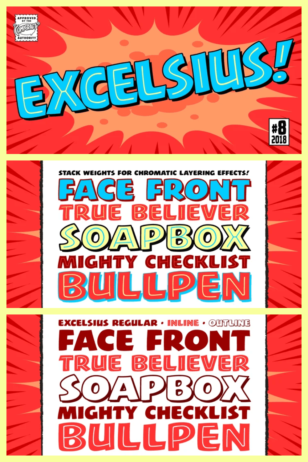 Vivid font is perfect for comics about superhero.