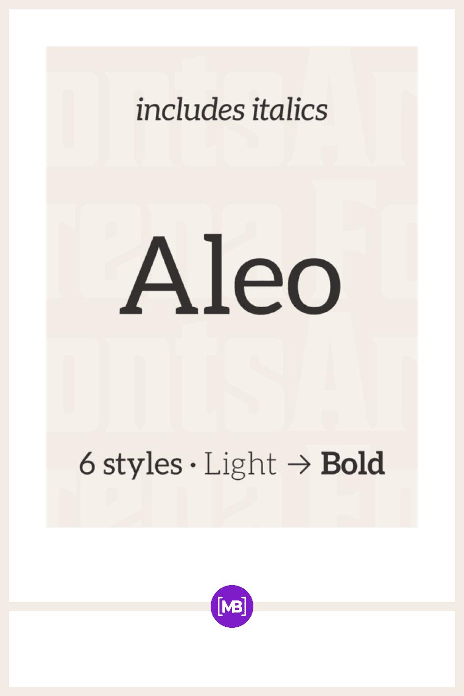 Aleo Bold Font.