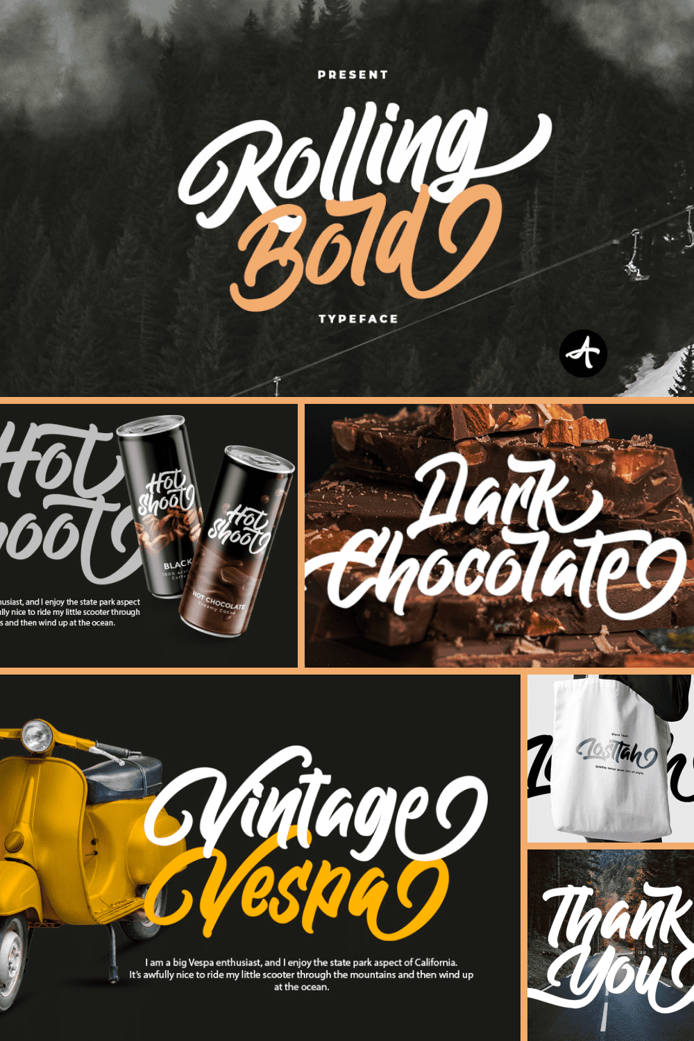 Rolling Bold Typeface.