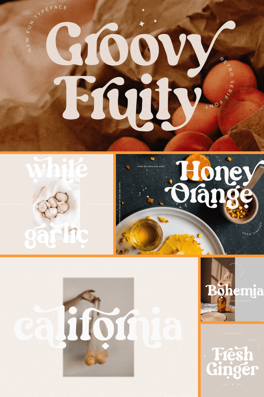 Groovy fruity - boho bold font.