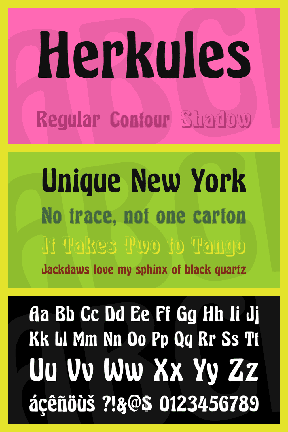 Bold font for real Hercules.