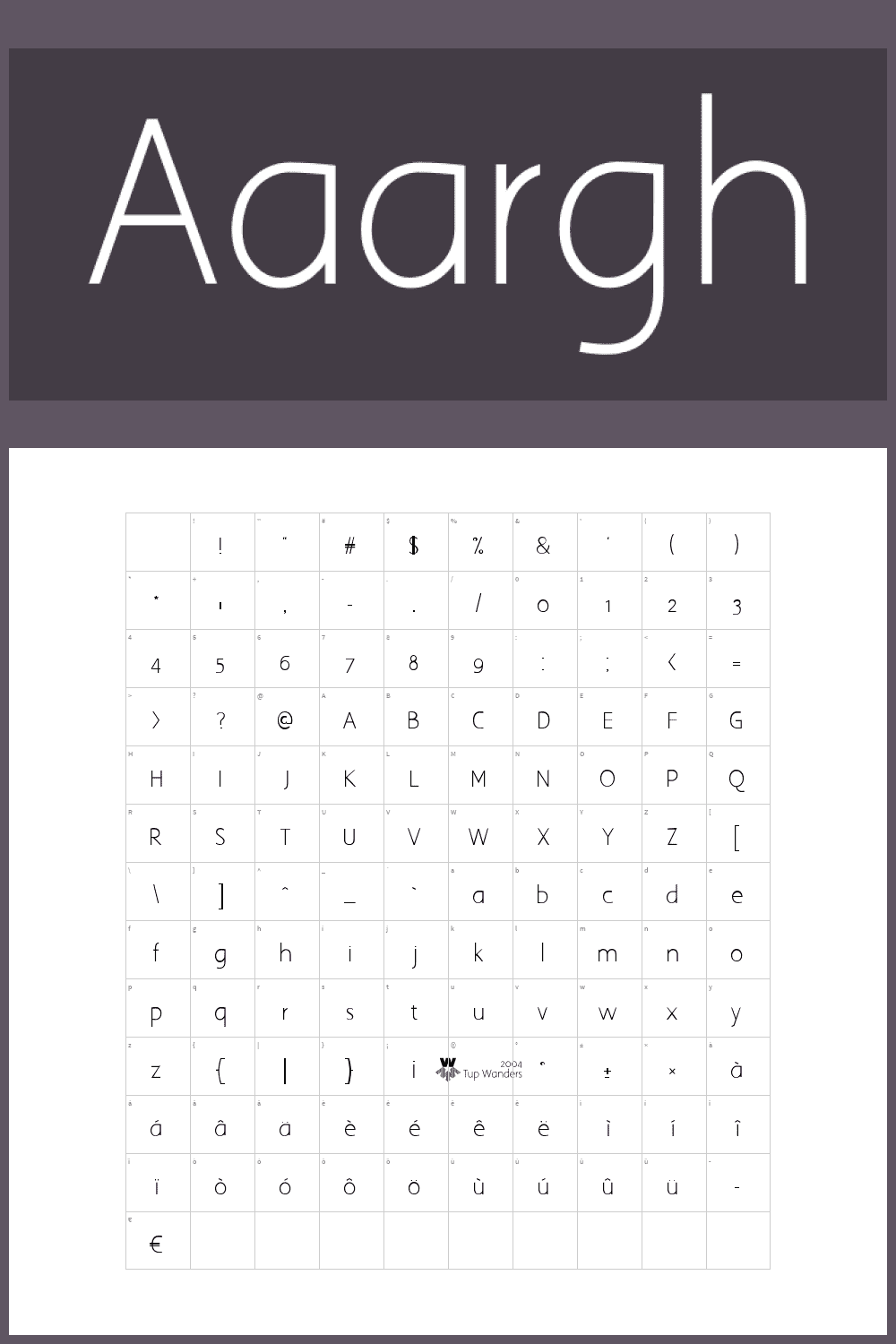 A simple typeface with no distinctive features.
