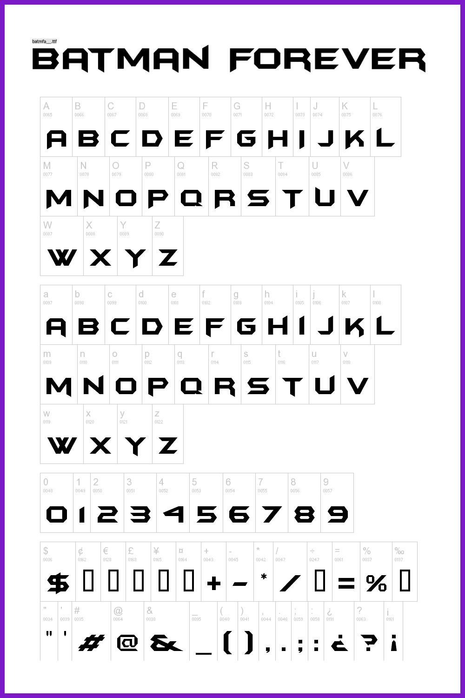 Batman font.
