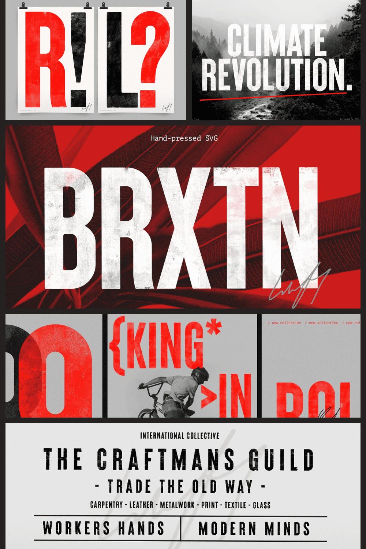 Brixton SVG - handprinted typefamily.