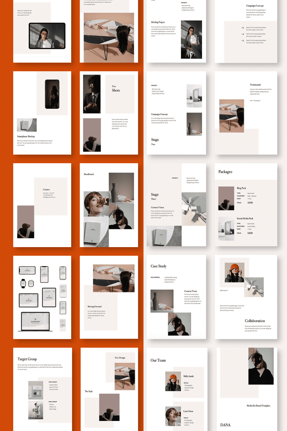 The template is perfect for a startup portfolio or modeling / design agency.