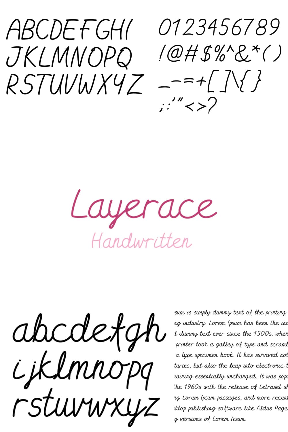 A pink font that resembles the first letters of an excellent student.
