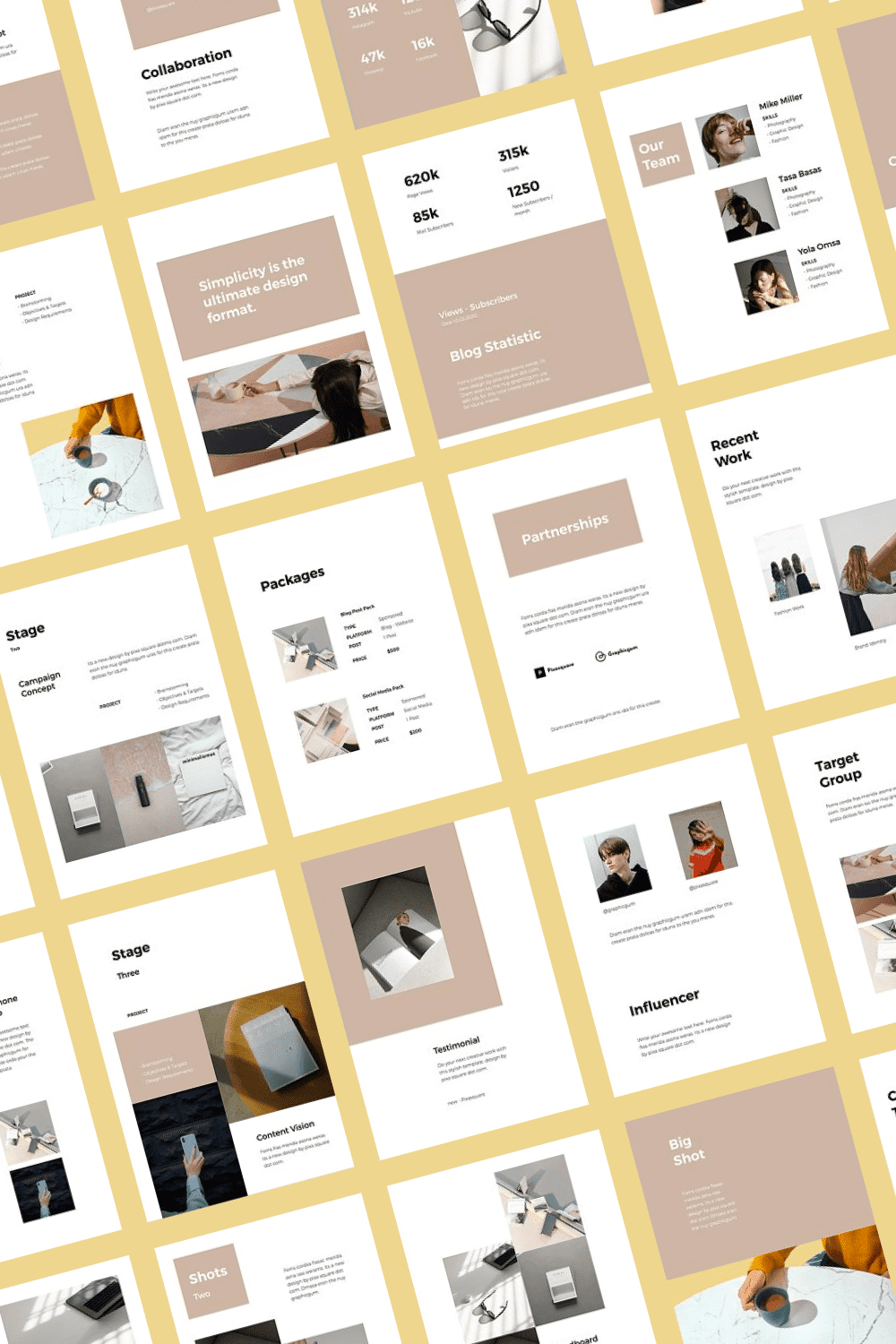 This bright and eye-catching template will fit even the largest presentation.