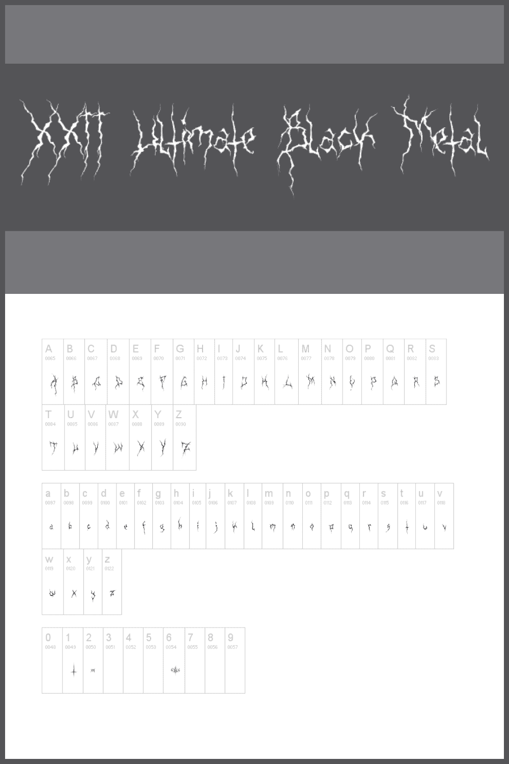 Creative and a little scary font.