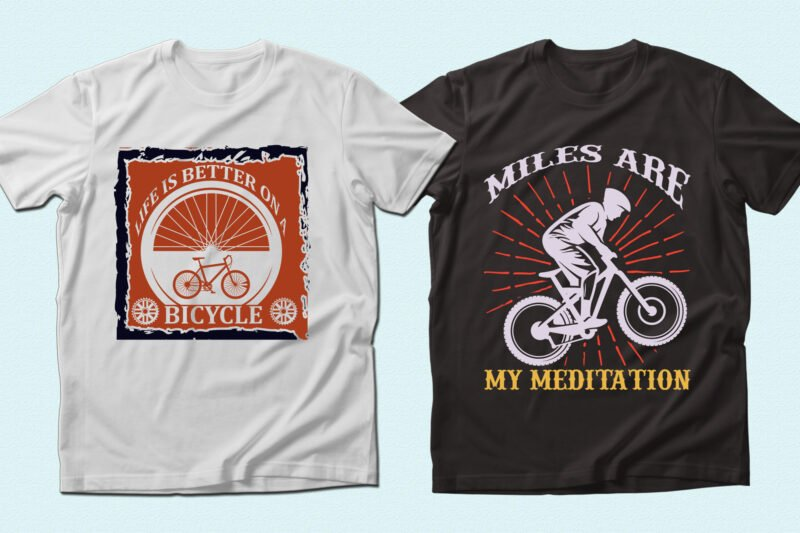 T-shirts with circle illustrations.