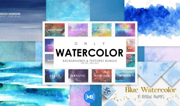 Best Blue Watercolor Background Post Example.