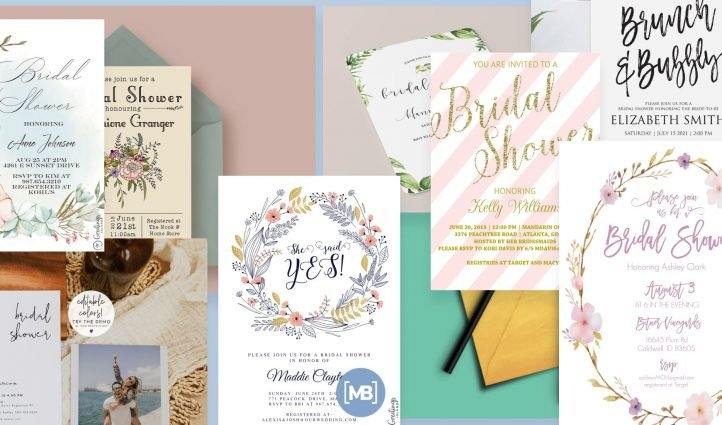 Best Bridal Shower Invitations Post Example.