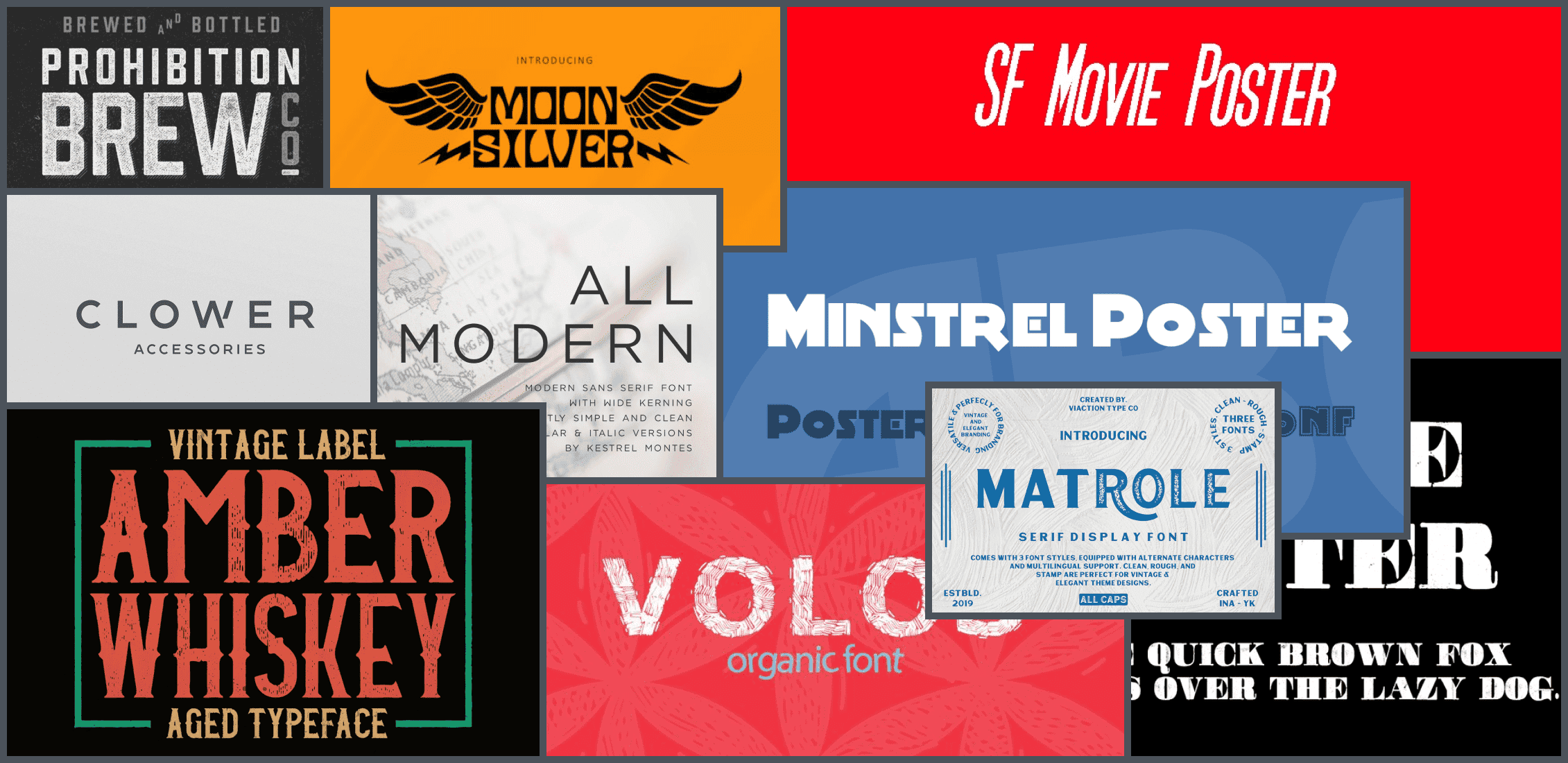 Best Fonts for Posters Example.