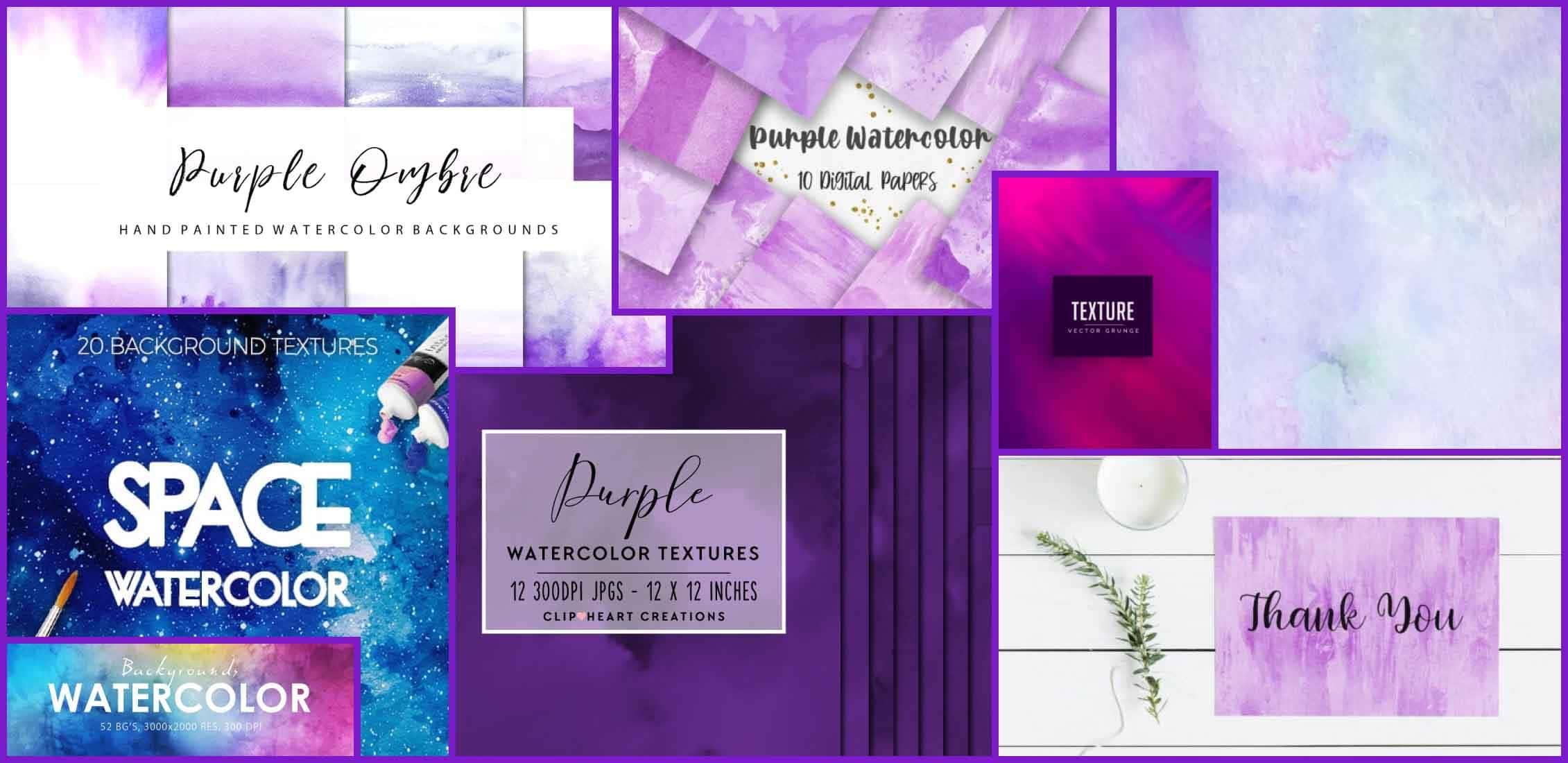 Best Purple Watercolor Textures Example.