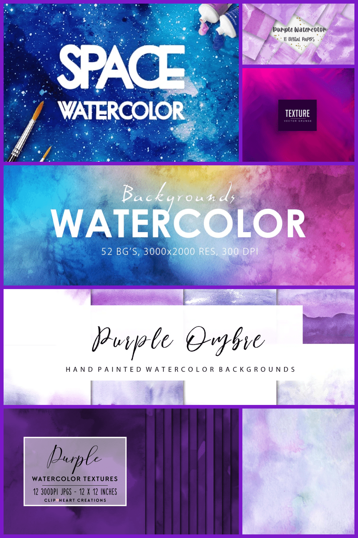 Purple Watercolor Textures Pinterest.