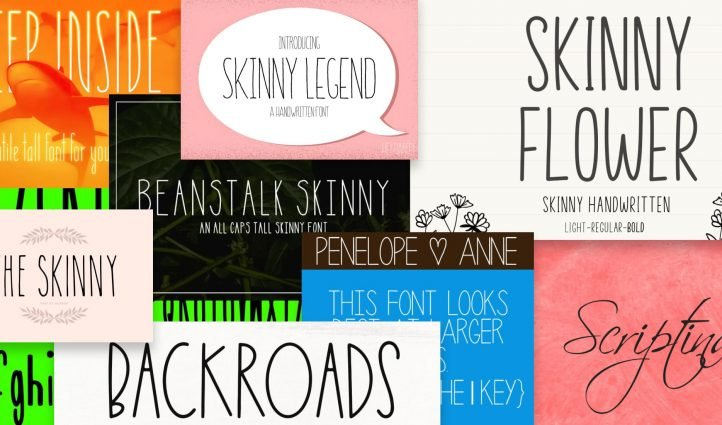 Best Skinny Fonts Post Example.