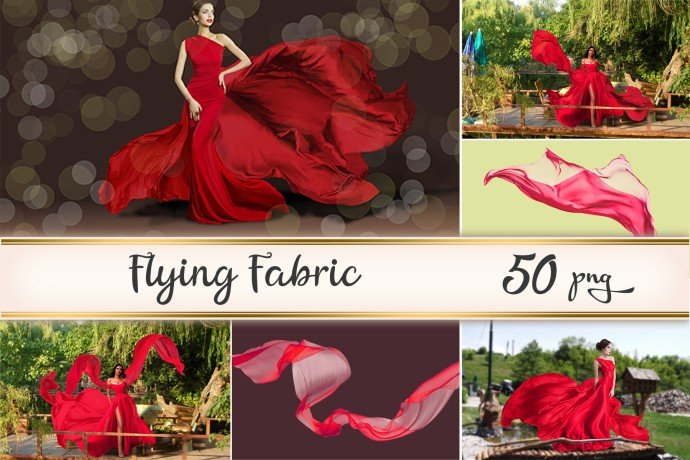 Red Flying Fabrics Example.