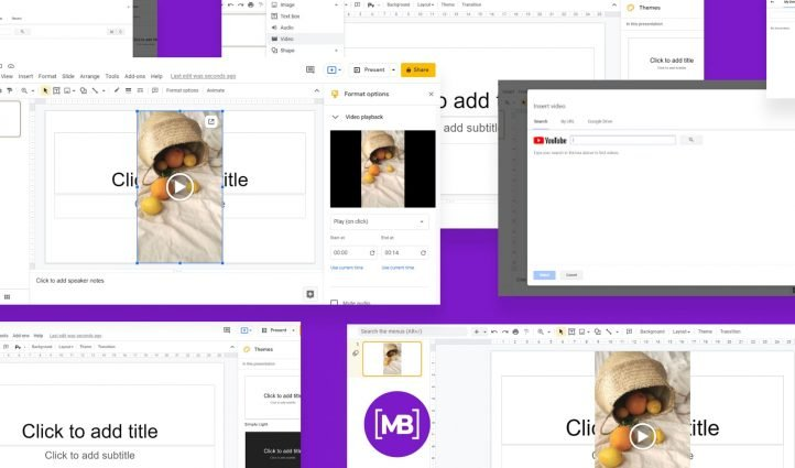 How to add video and audio to Google Slides Post Example.