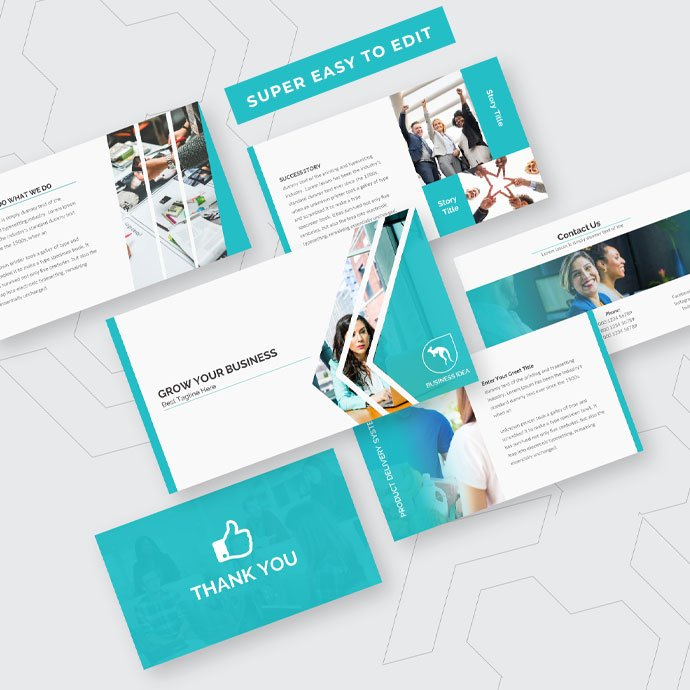 Business Growth PowerPoint Presentation Template Example.