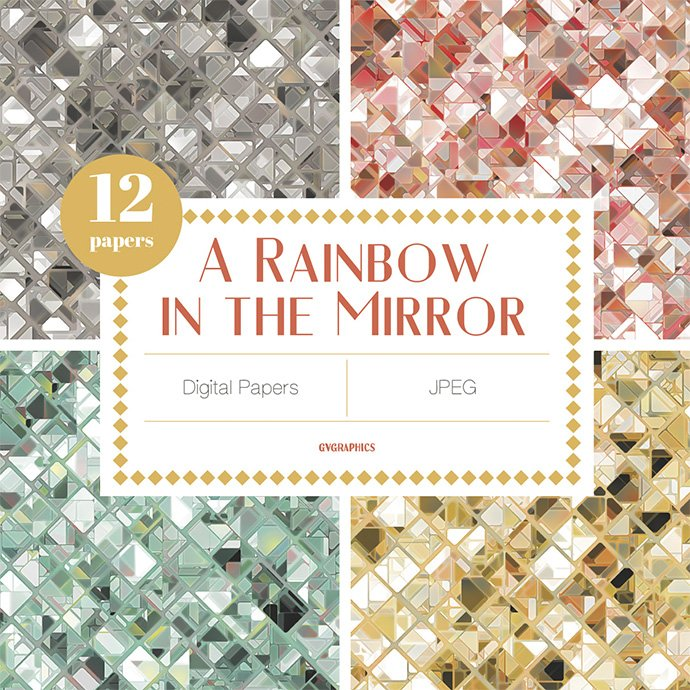 A Rainbow In The Mirror Digital Papers Example.