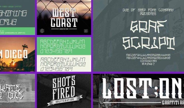 MT 10 Best West Coast Fonts in 2021 Example.