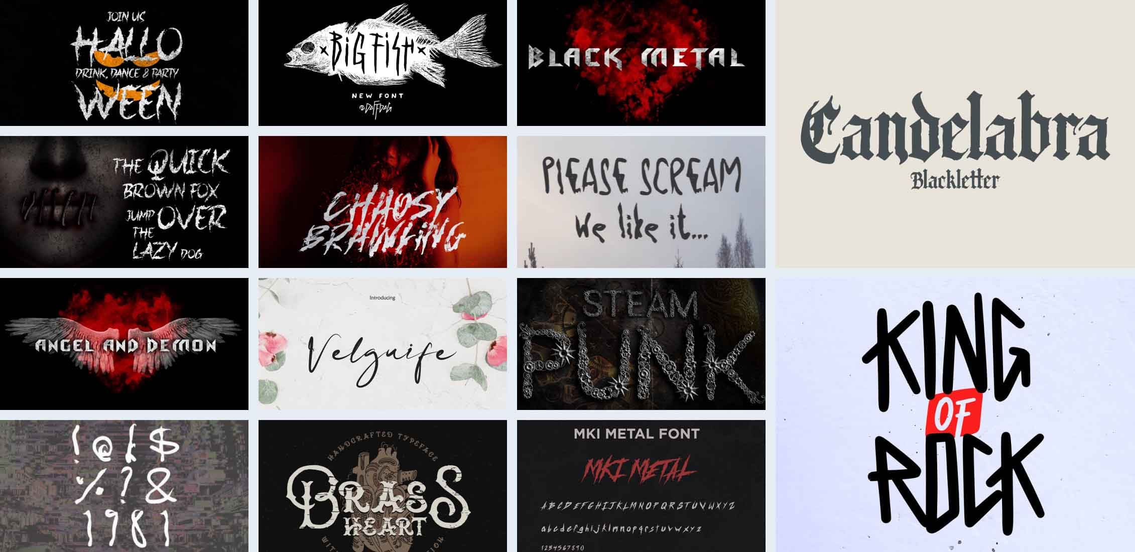 Metal Band Fonts in 2021 Example.