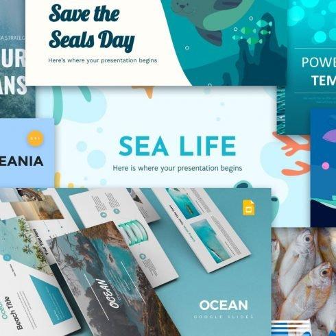 Ocean Google Slides Themes Post Example.