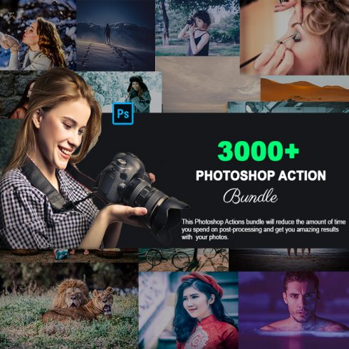 3000+ Exclusive Photoshop Actions main cover.