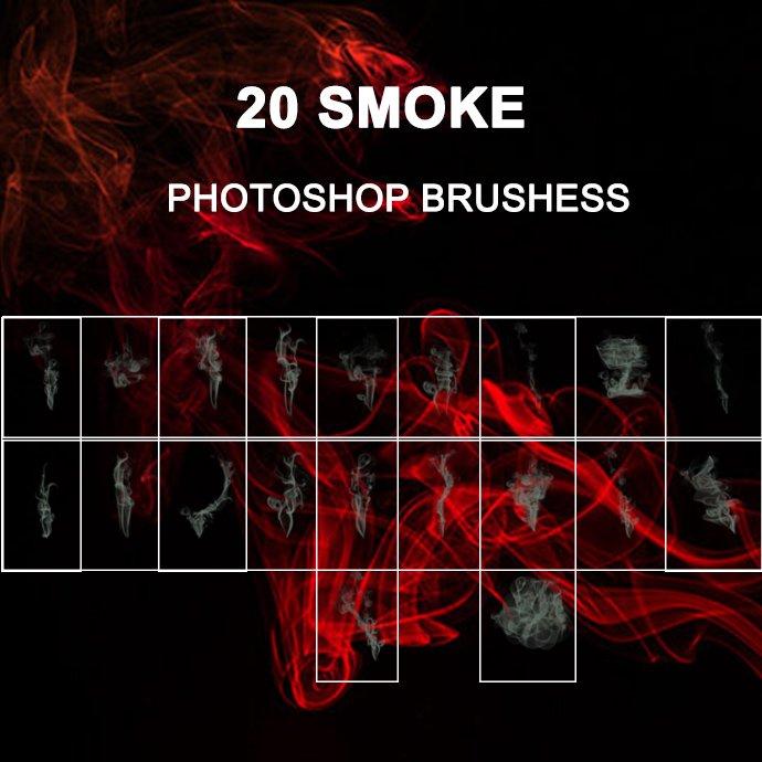 20 Smoke Photoshop Brush cover image.