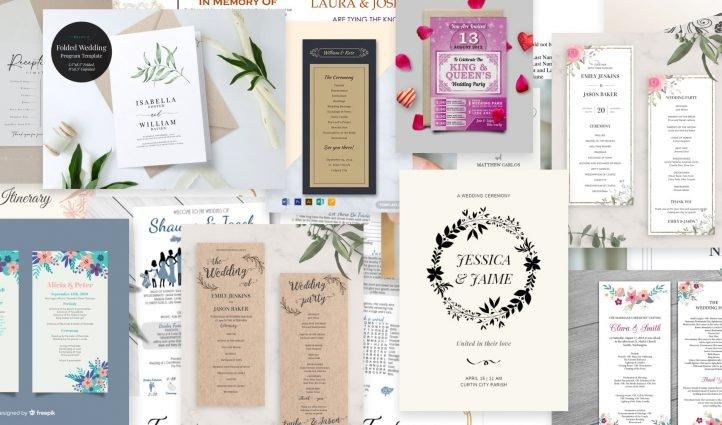 Wedding Program Templates Post Example.