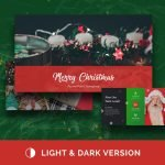 Merry Christmas Powerpoint Presentation Template main cover.