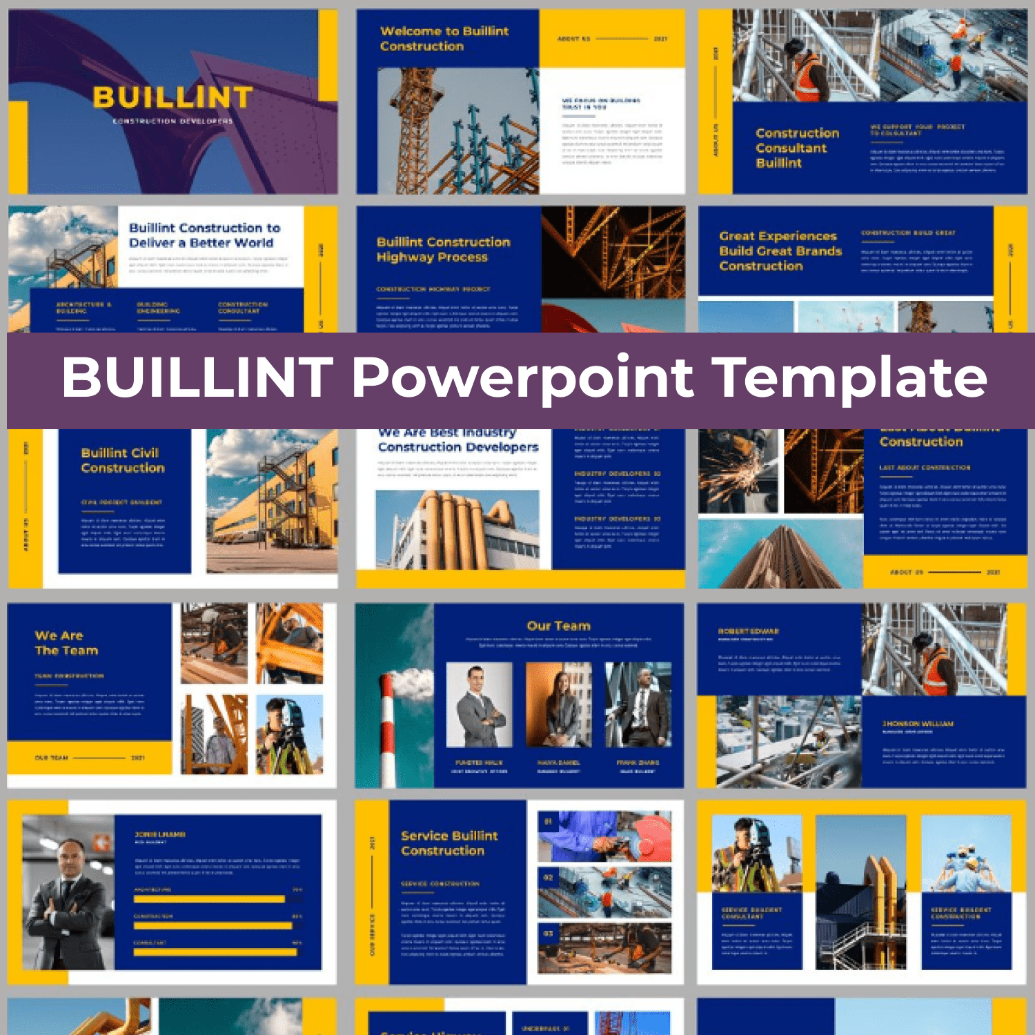 BUILLINT Powerpoint Template main cover.