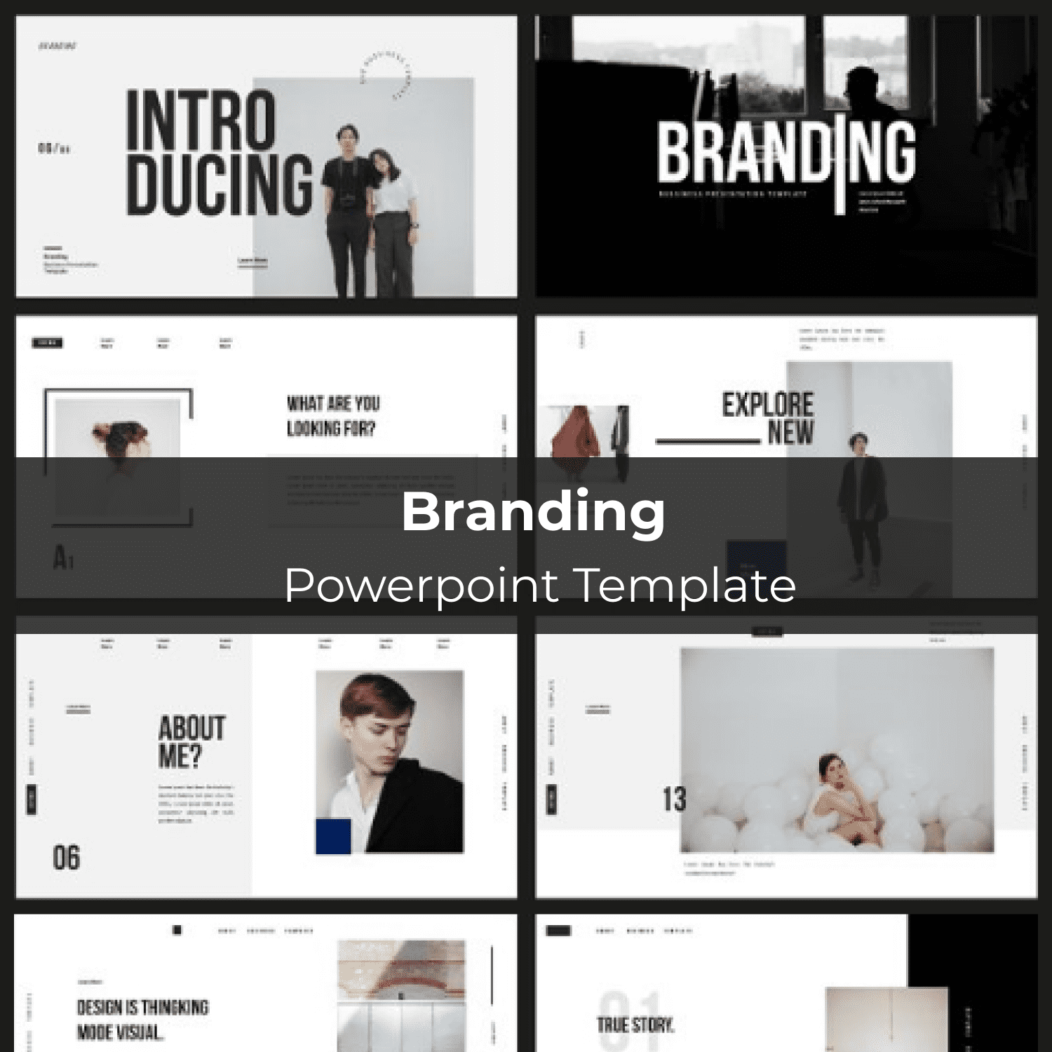 Branding Powerpoint Template main cover.