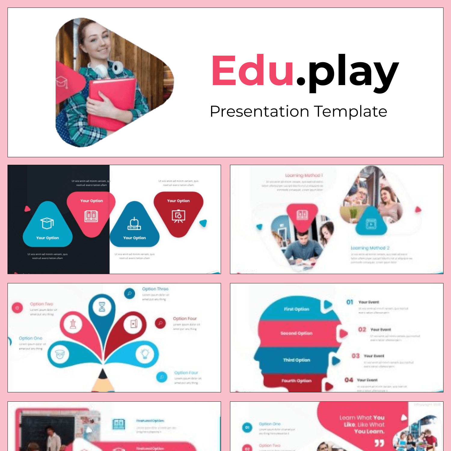 Eduplay Smart Powerpoint Template main cover.