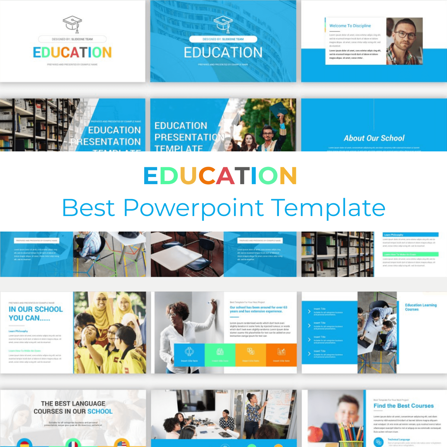 Education PowerPoint Template main cover.