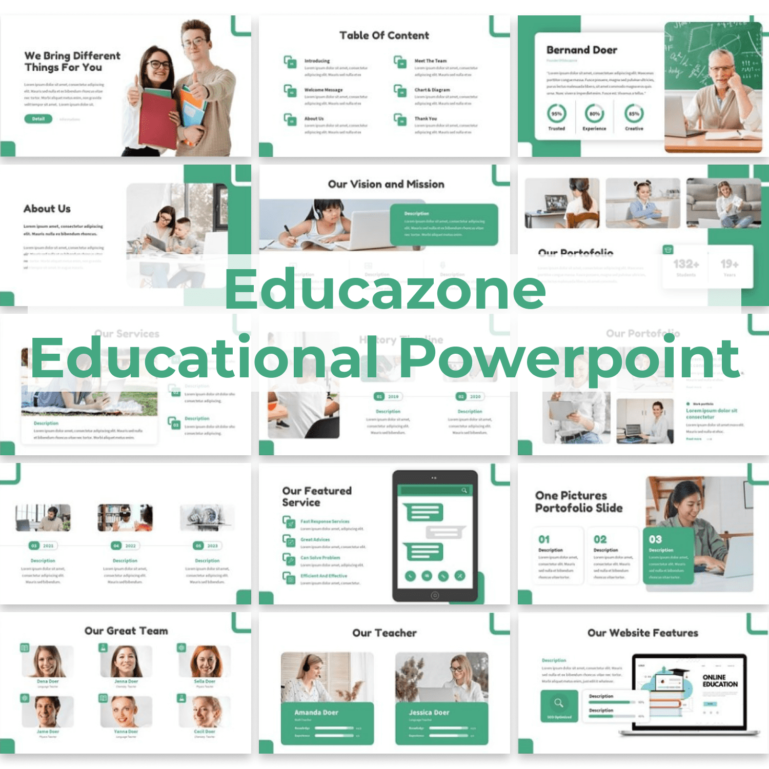 Educazone - Educational Powerpoint main cover.