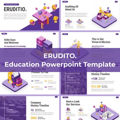 Eruditio - Education Powerpoint main cover.