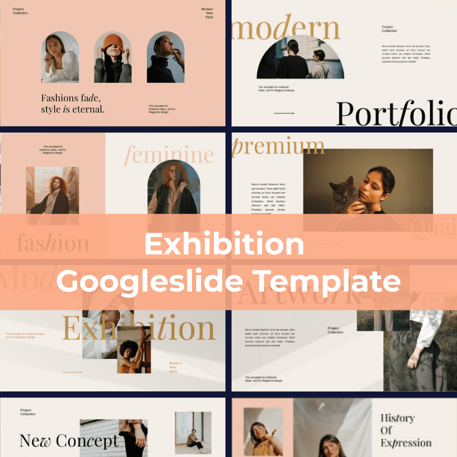 Exhibition Googleslide Template main cover.