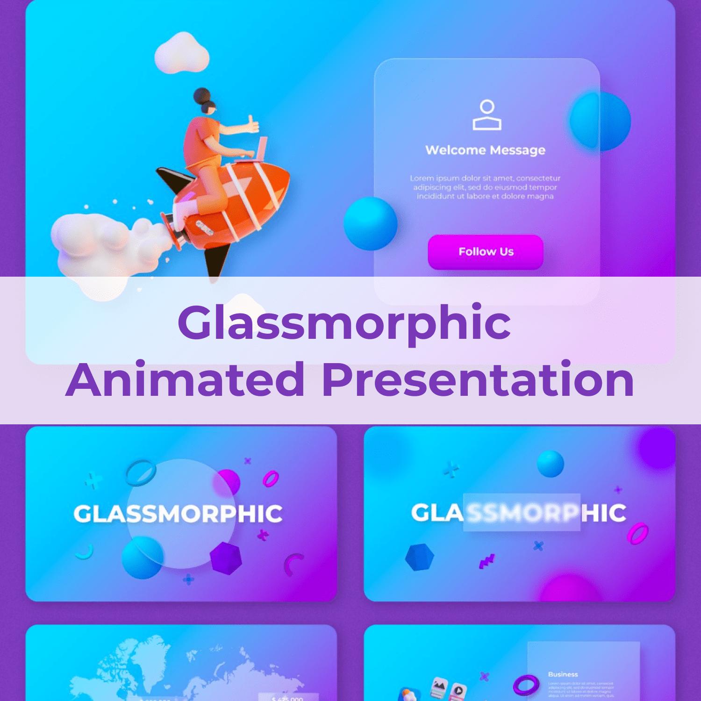 Glassmorphic Animated Presentation main cover.