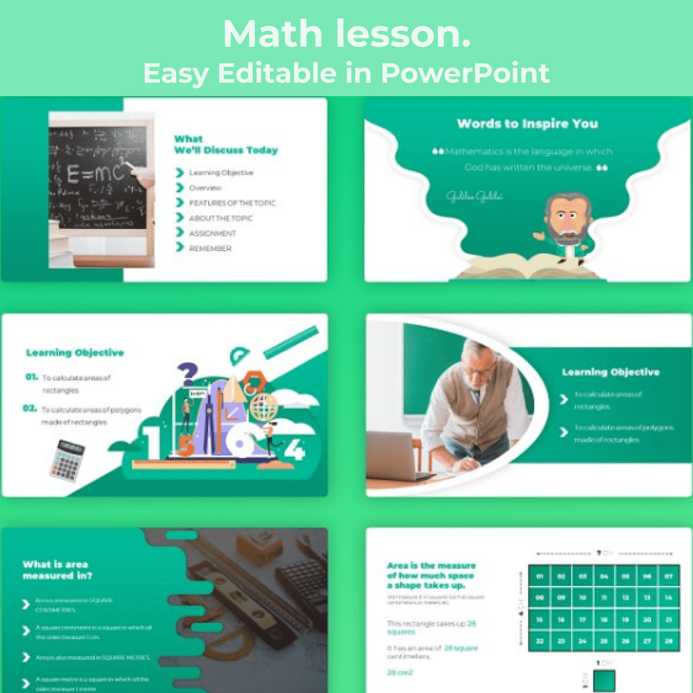Math Lesson – Mathematics PPTX main cover.