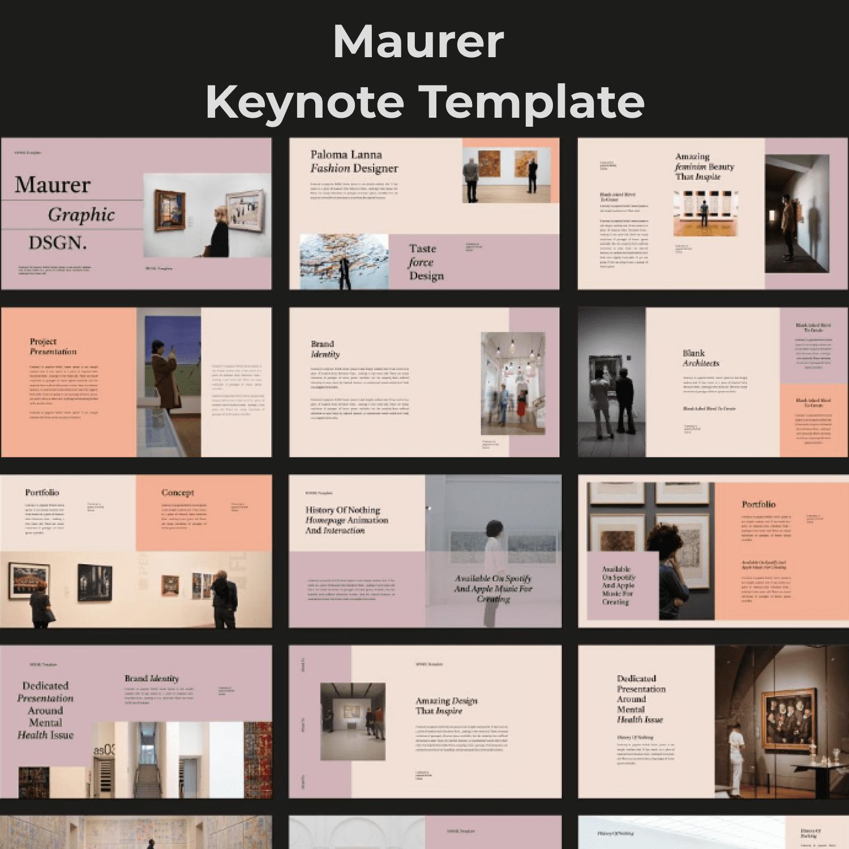 Maurer Keynote Template main cover.