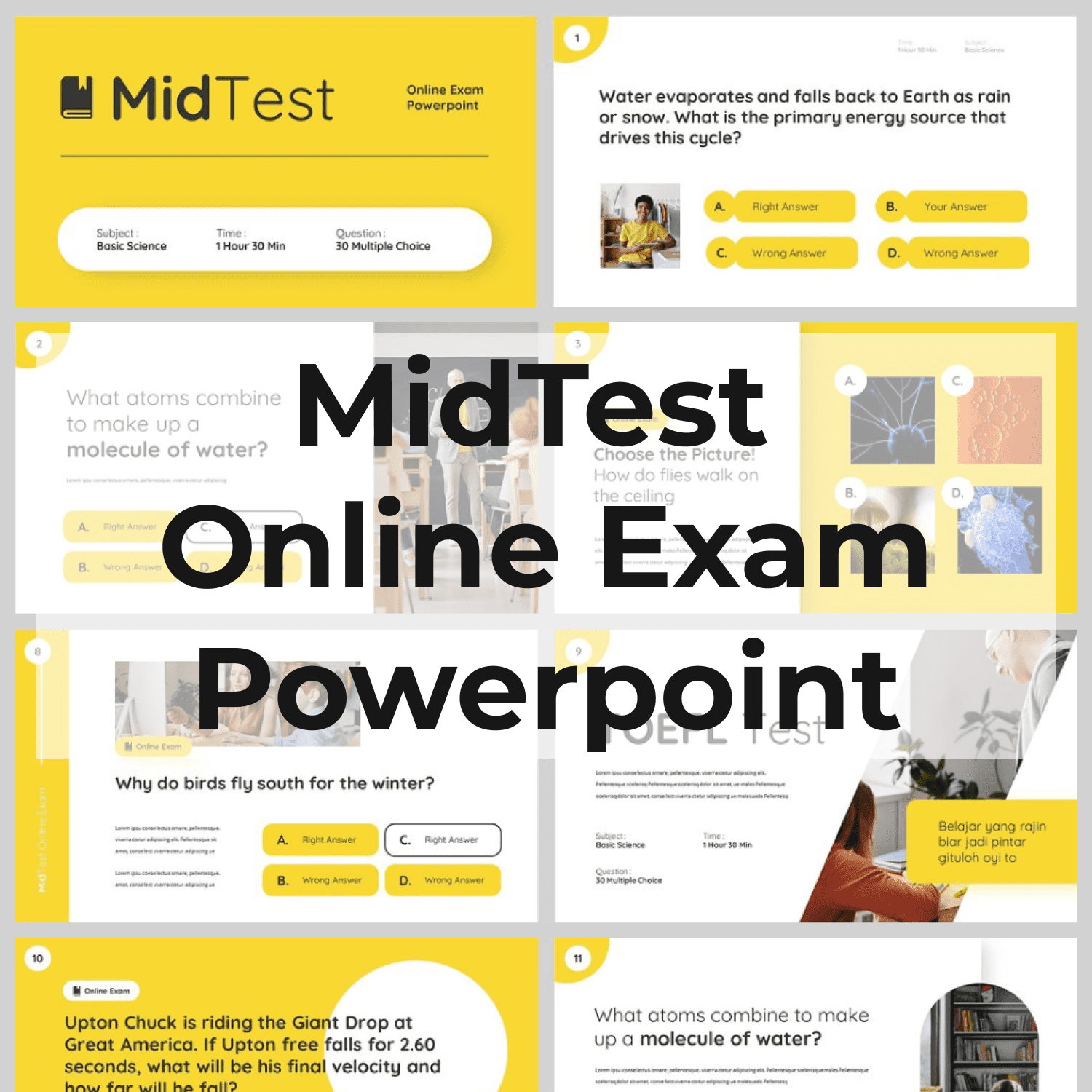 MidTest – Education Keynote Template main cover.