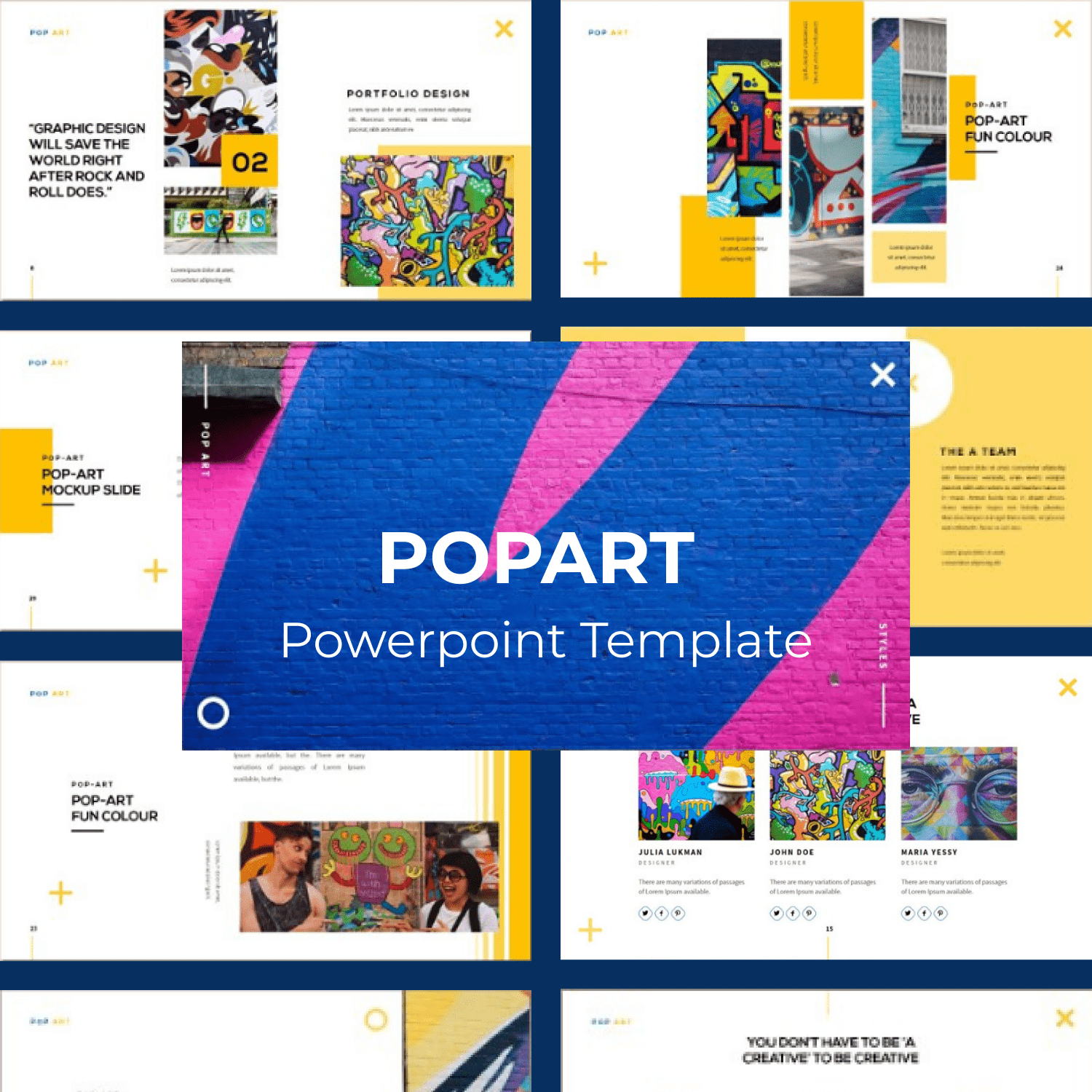 POPART Powerpoint Template main cover.