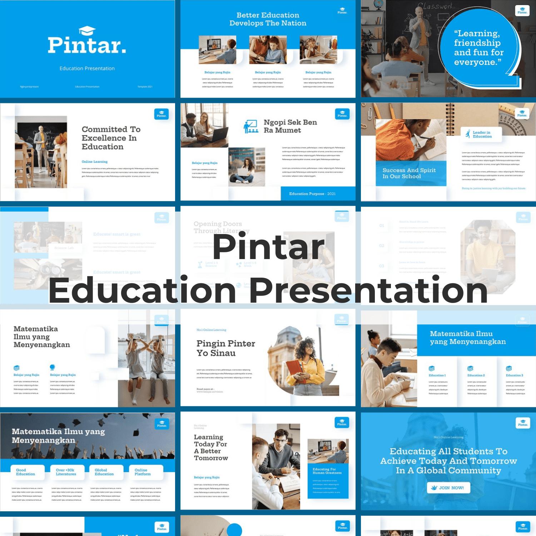 Pintar - Education Powerpoint main cover.