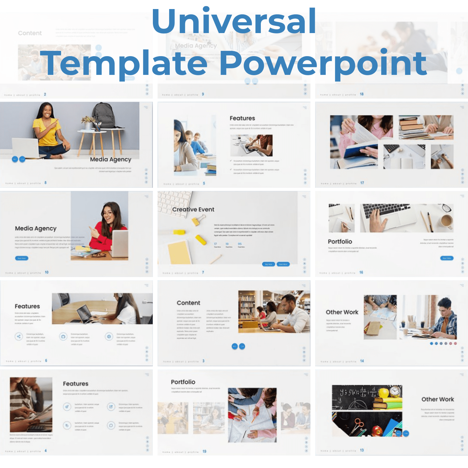 Universal - Education Powerpoint main cover.