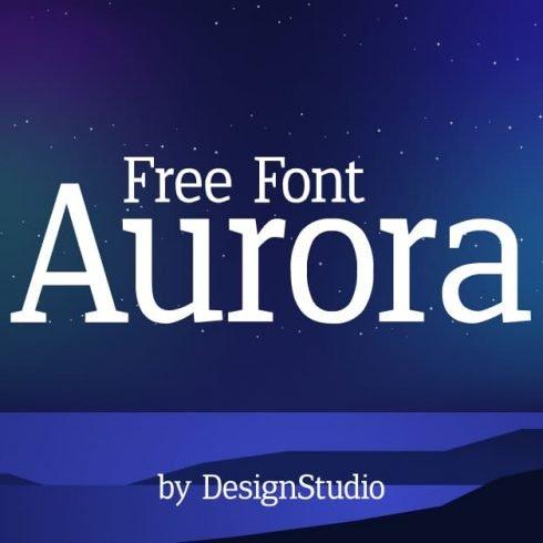 Aurora Monospaced Serif Font Example.