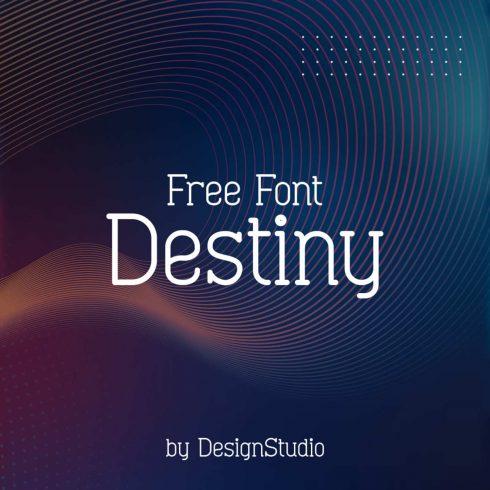 Destiny Monospaced Serif Font main cover.