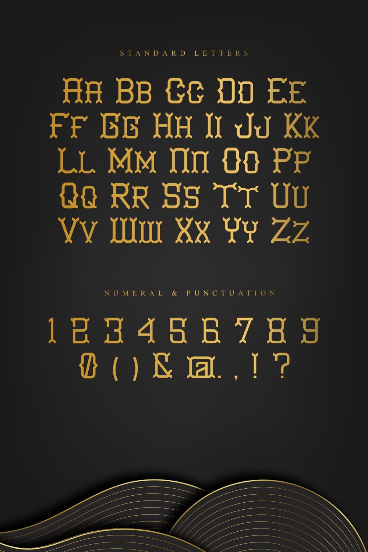 Standard letters of Evanescent Slab Serif Font.