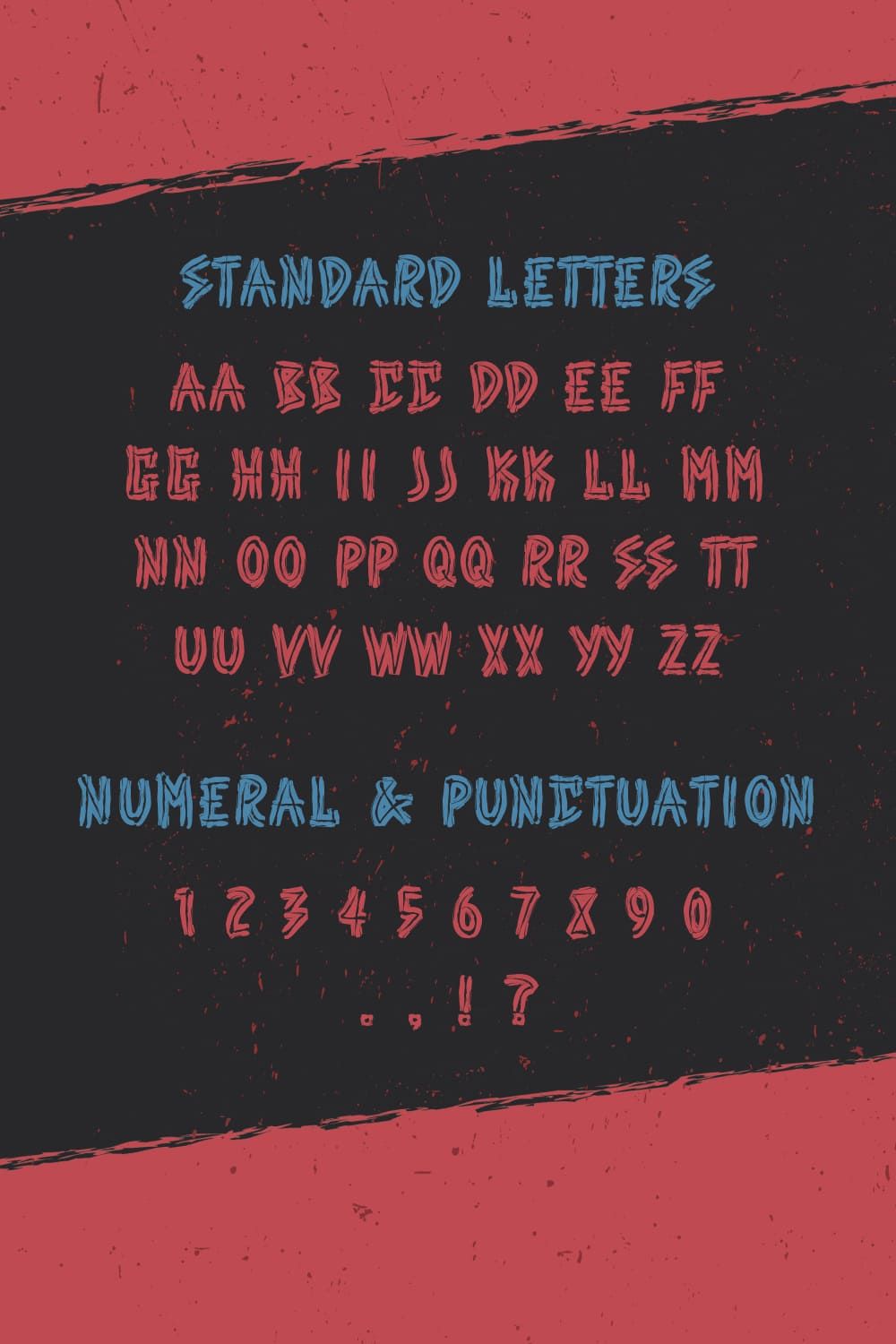 Standard letters of the Free Punk Font.